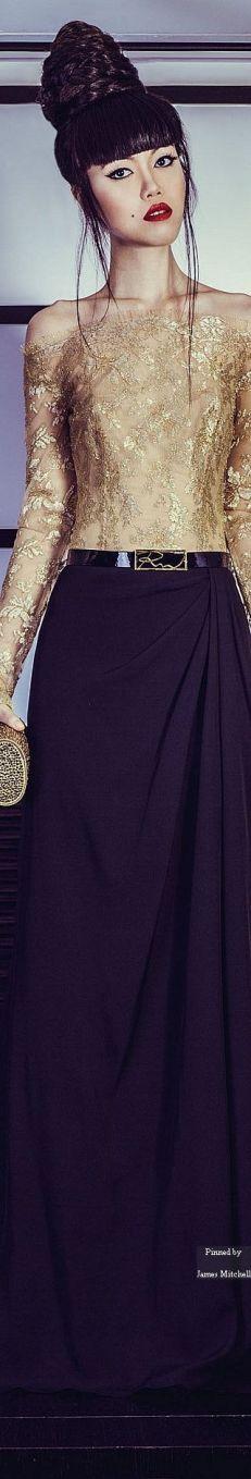 robe de soirée dorée et noire mariage oriental