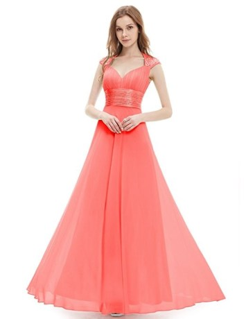 Robe corail avec brillants