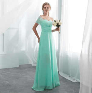Robe demoiselle d'honneur vert pastel
