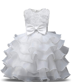 Robe petite fille princesse mariage blanche