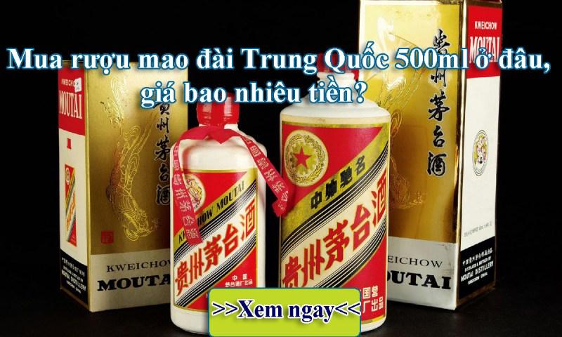 Rượu Mao Đài rồng vàng Trung Quốc giá bao nhiêu tiền?