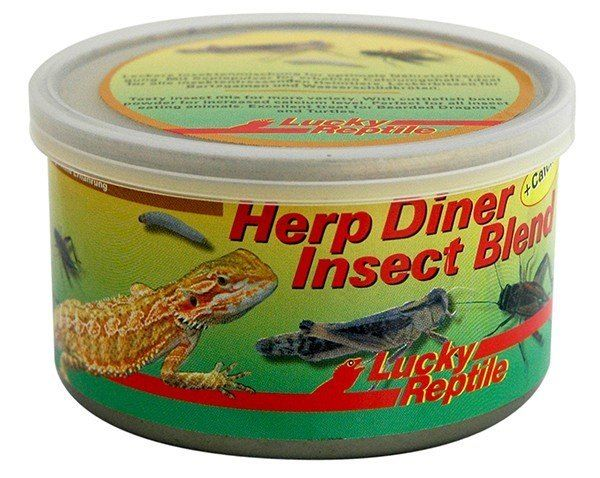Herp Diner Mix 35gr Insect Blend + Calcium Alimento enlatado