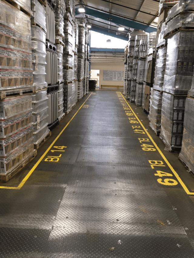 Resin demarcation - Monarch resin flooring