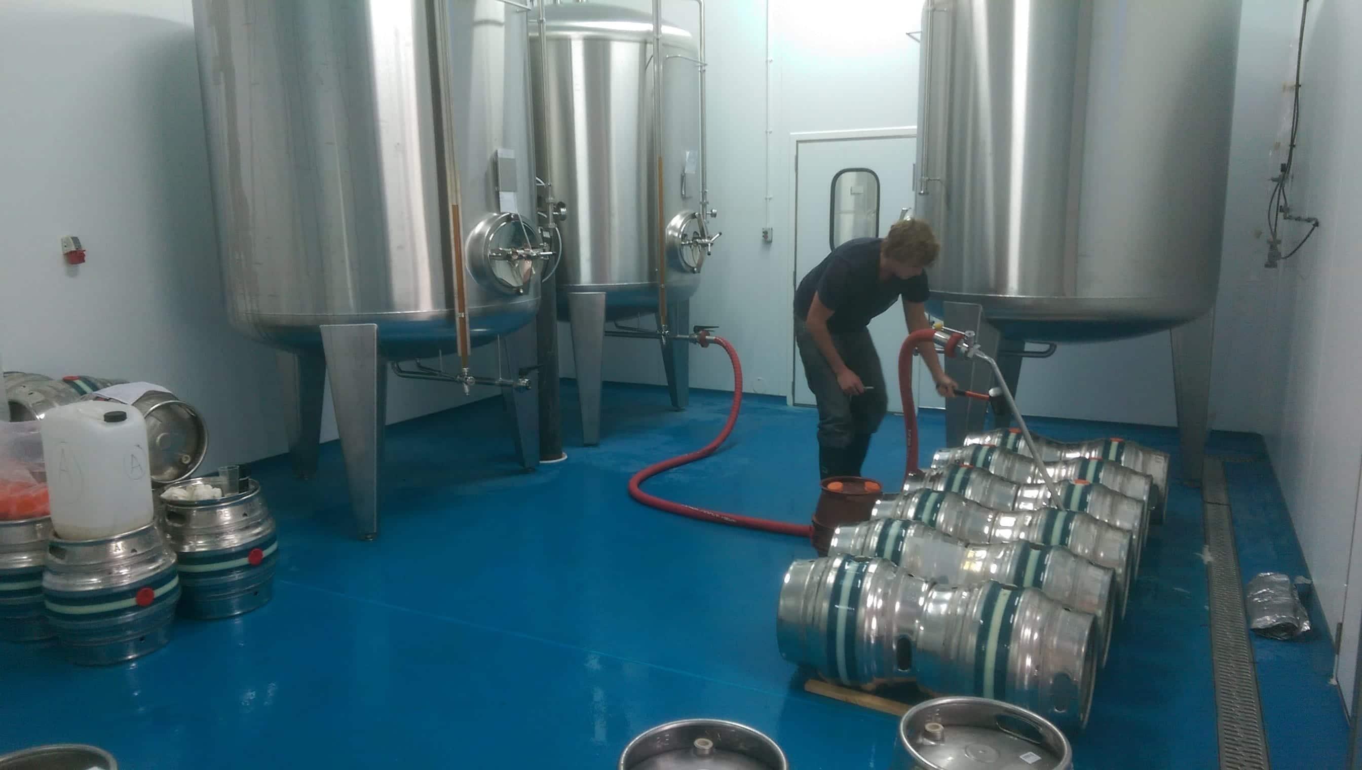 Peak Ales Brewery - Resin Brewery Flooring - Monarch Resin Flooring UK