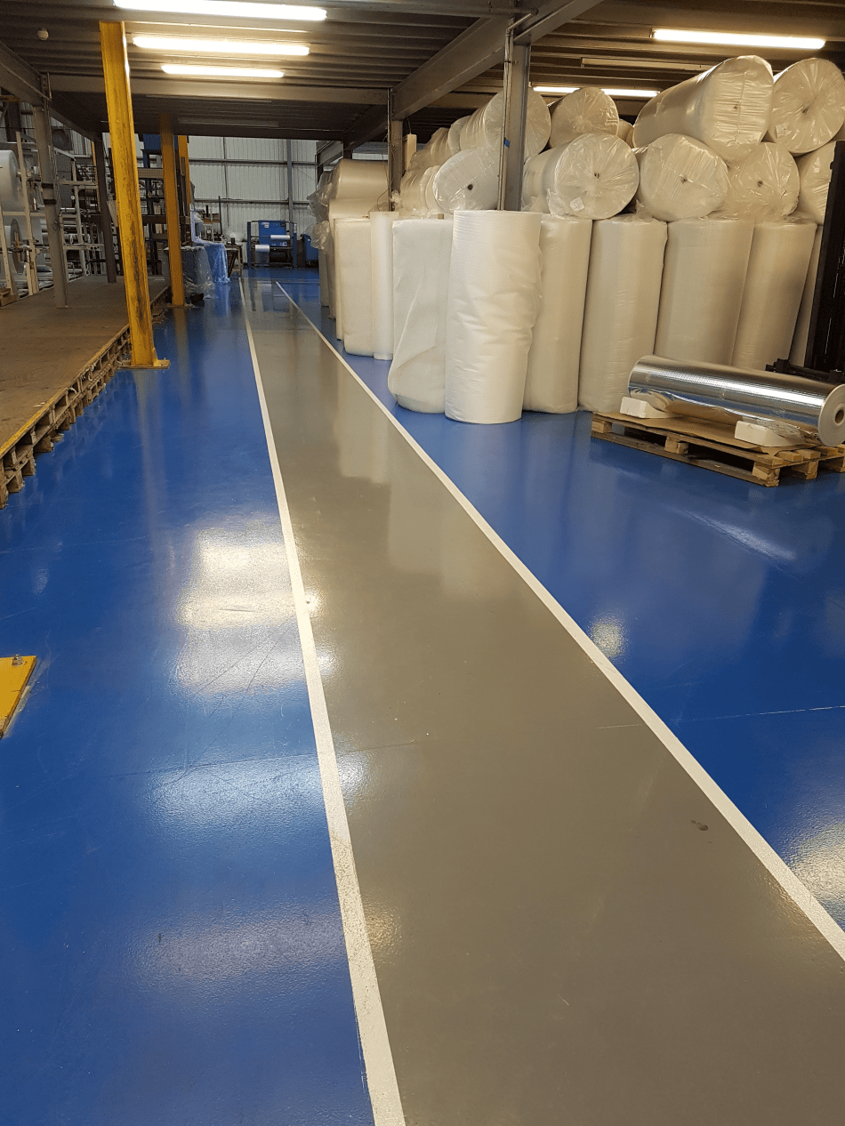 Factory gangways using resin - Monarch resin flooring