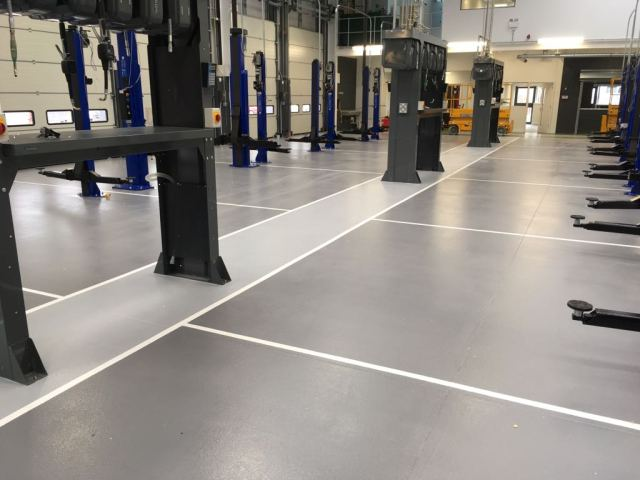 Workshop automotive resin flooring monarch