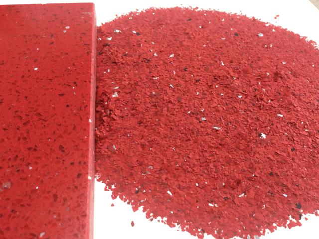 Flake finish - Red - Monarch resin flooring