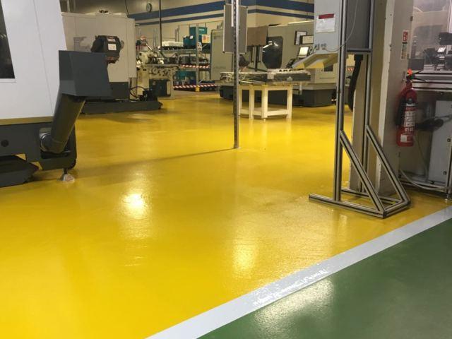Monarcoat 720 - Yellow - Factory flooring - Monarch resin flooring