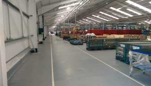 warehouse resin flooring
