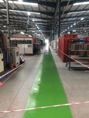 resin gangway floor in factory