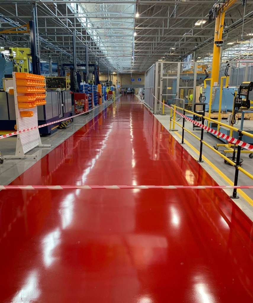 factory flooring lancashire - epoxy resin