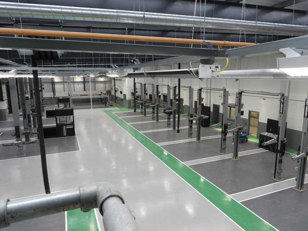 automotive resin flooring uk