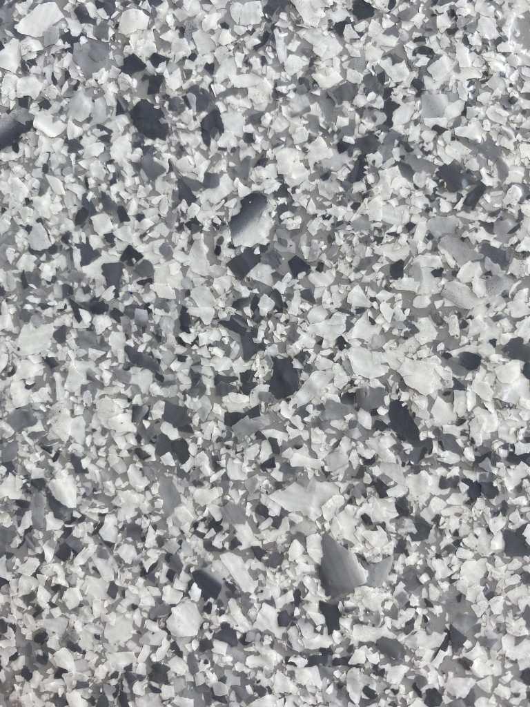 flake finish garage floor resin floor pebble