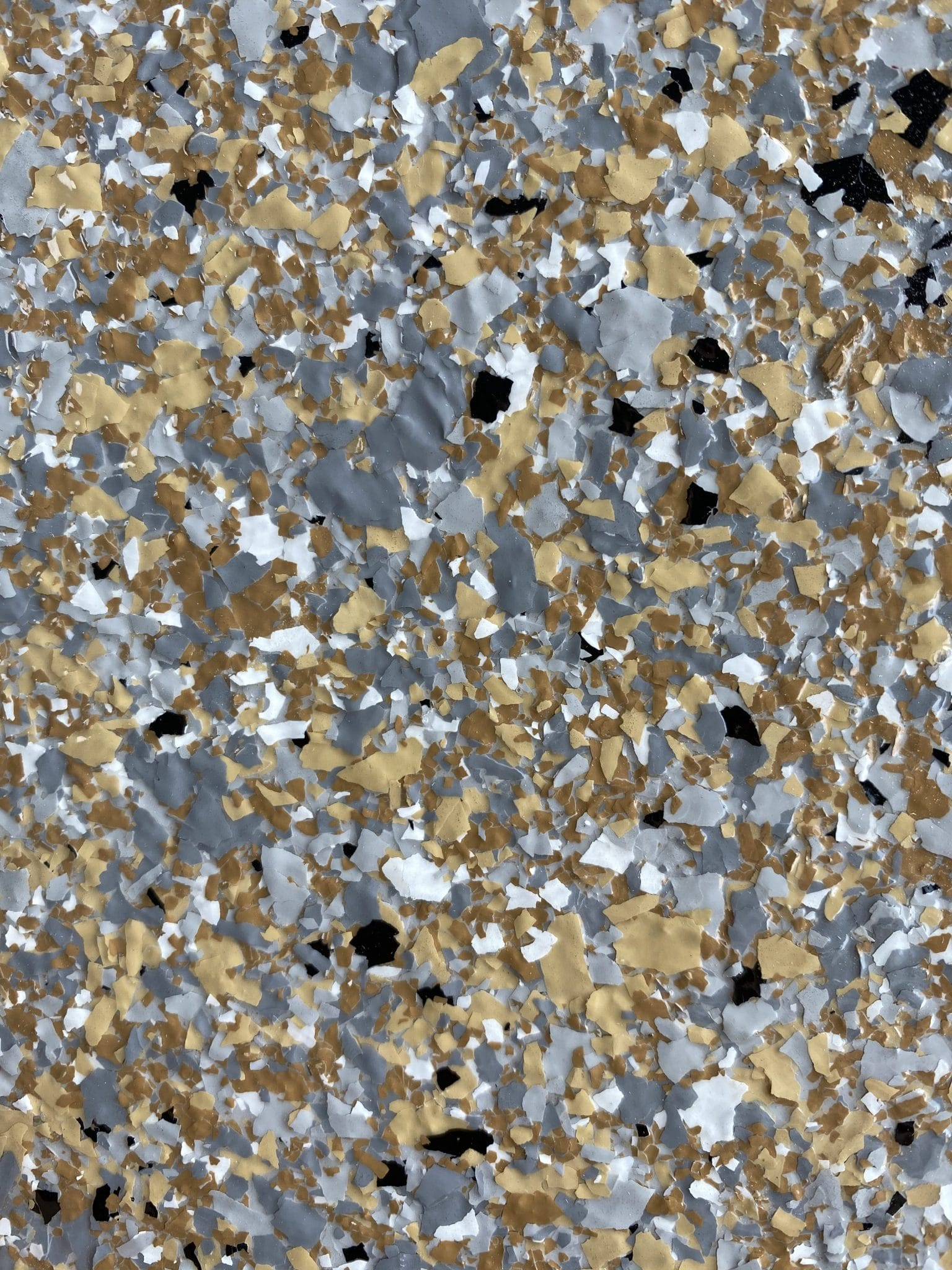 flake finish garage floor resin floor oatmeal