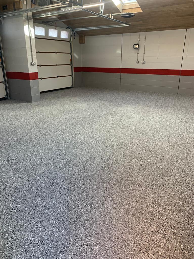 decorative garage floor resin