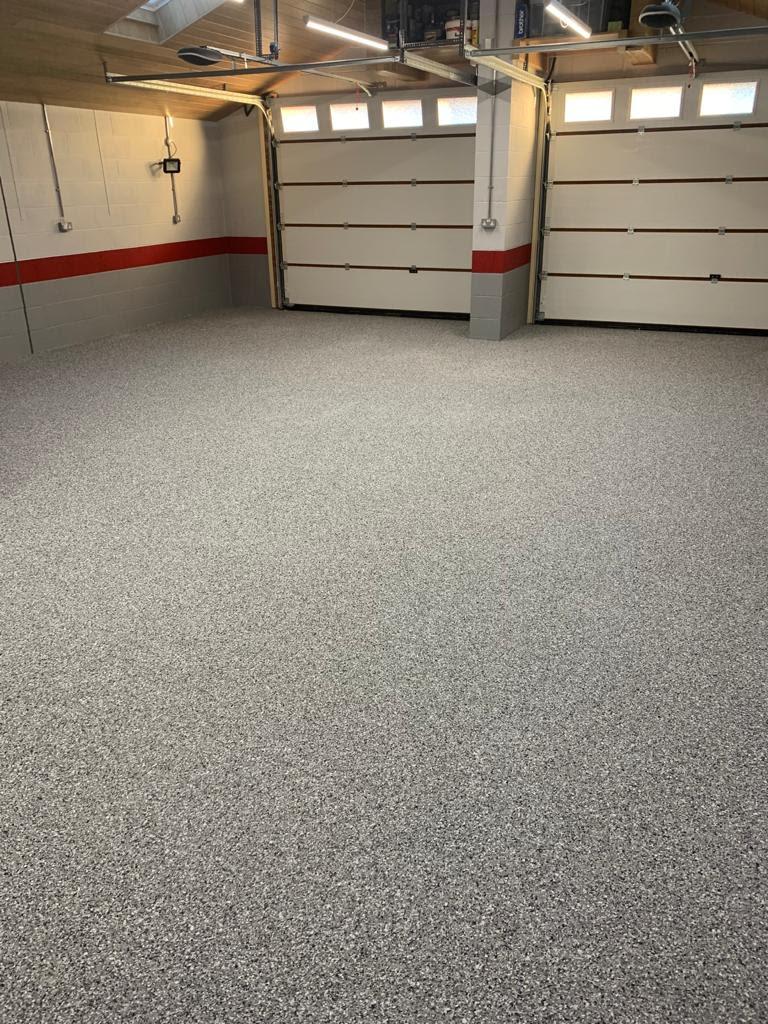 flake finish garage floor resin floor