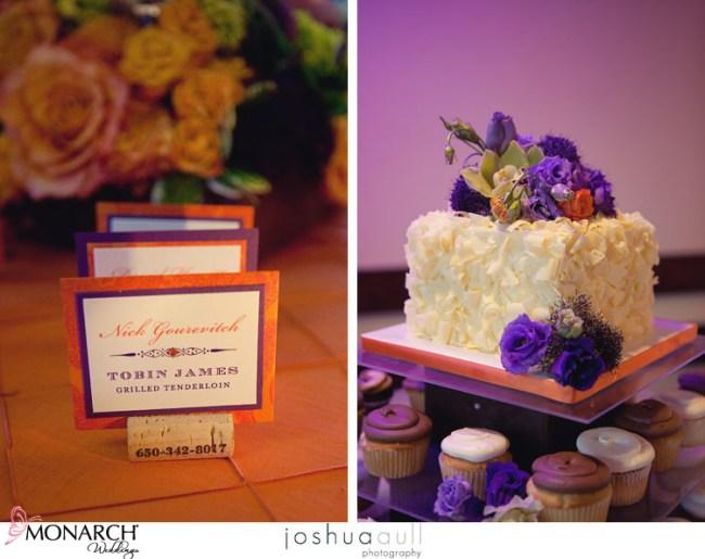 Lodge-at-torrey-pines-orange-purple-placecards