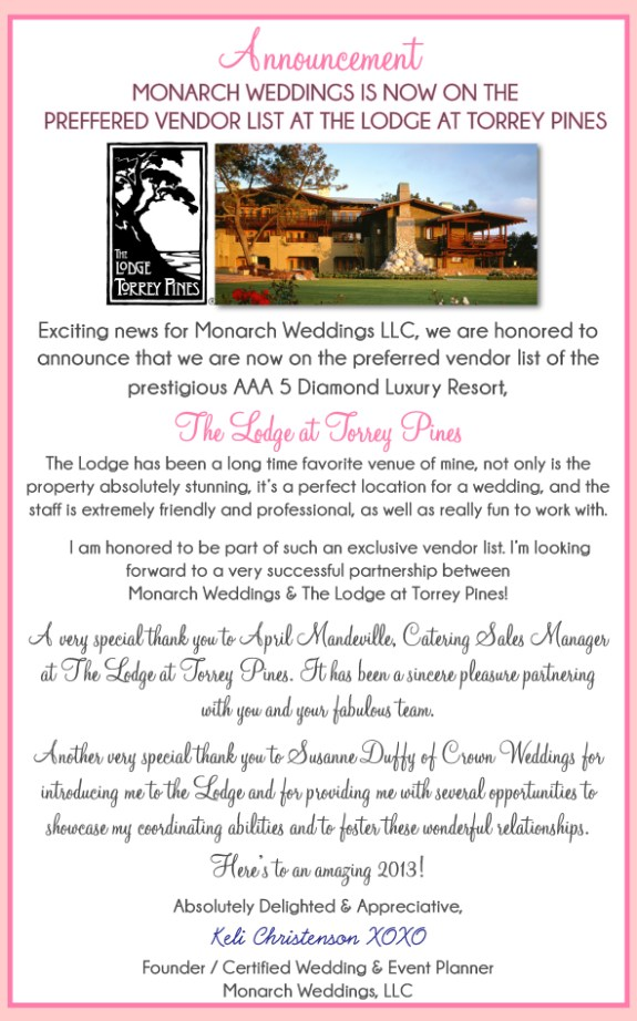 Monarch-weddings-announces-on-preferred-vendor-list-Lodge-at-Torrey-Pines