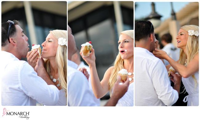 Bride-and-Groom-eating-cupcake-Cupcake-wars-Rehearsal-Dinner