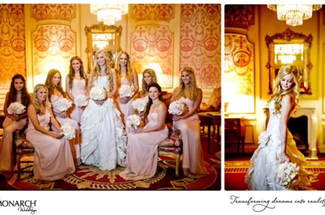 Blush-vintage-wedding-brides-and-bridemaids-photos-westgate-hotel