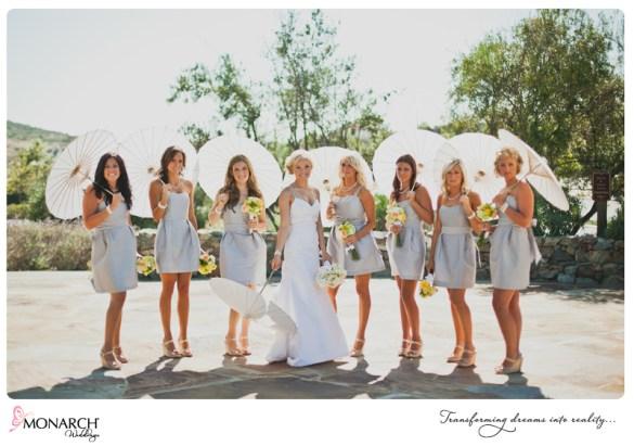 Bridesmaids-parasols-pale-blue-bridesmaids-dress-rustic-chic-wedding