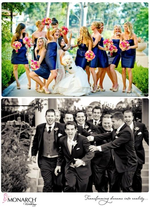 Royal-blue-bridesmaids-dress-tropical-bouquet-bridal-party-pic