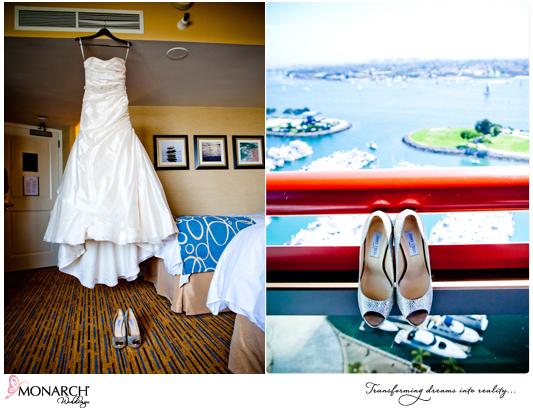 wedding-dress-silver-bridal-shoes-marriott-san-diego