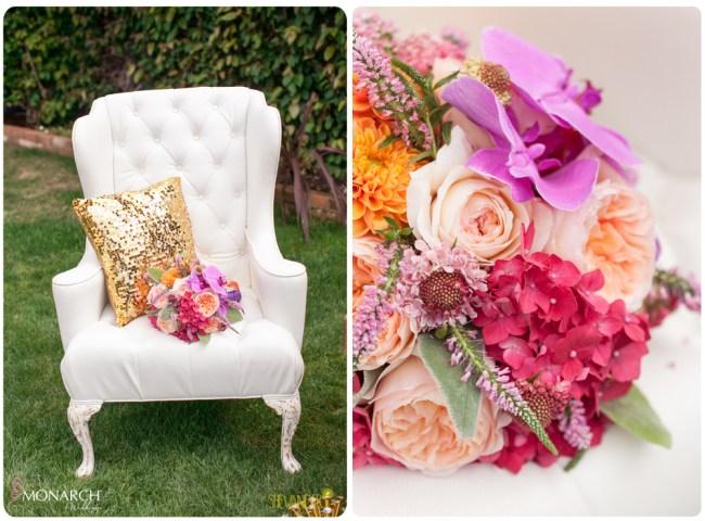 White-lounge-chair-concepts-event-design-Purple-Phalaenopsis-bridal-bouquet