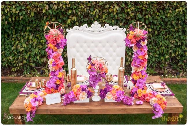 hite-throne-chair-farm-table-wedding-purple-Phalaenopsis-coral-peony