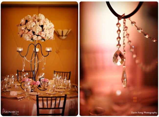 Blush-black-white-wedding-at-La-Valencia-rod-iron-centerpieces