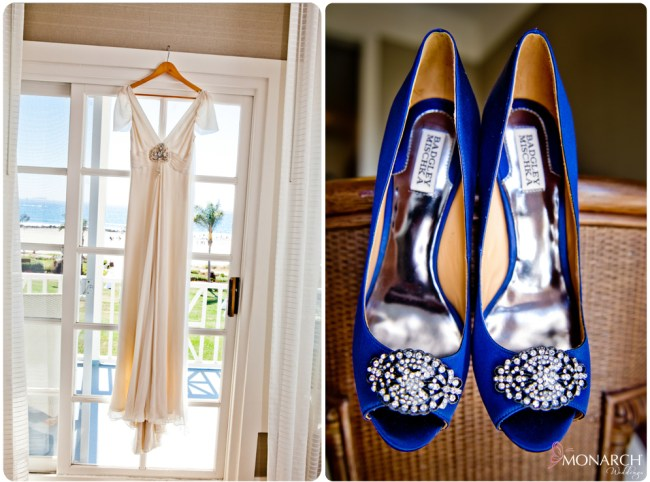 vintage-wedding-dress-royal-blue-badgley-mischka-bridal-shoes