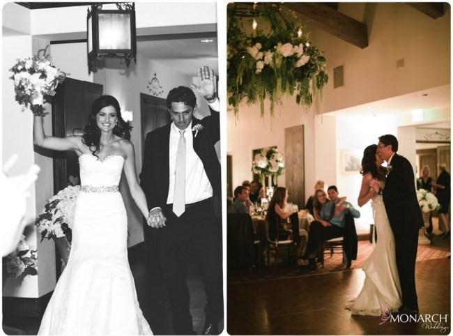 Rustic-garden-chic-wedding-chandelier-with-florals-First-dance