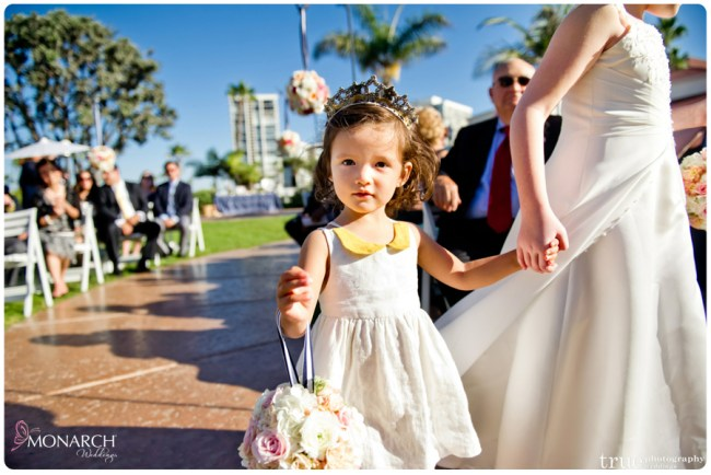 Vintage-nautical-wedding-hotel-del-flowergirl