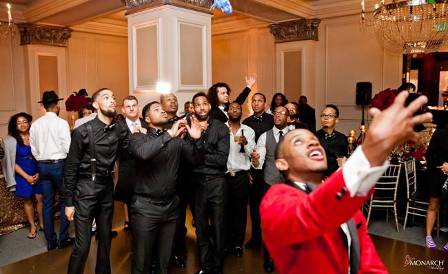 Garter-toss-Us-Grant-Hotel-Gatsby-wedding-2