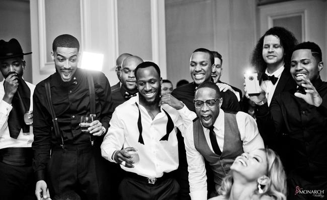 Garter-toss-Us-Grant-Hotel-Gatsby-wedding