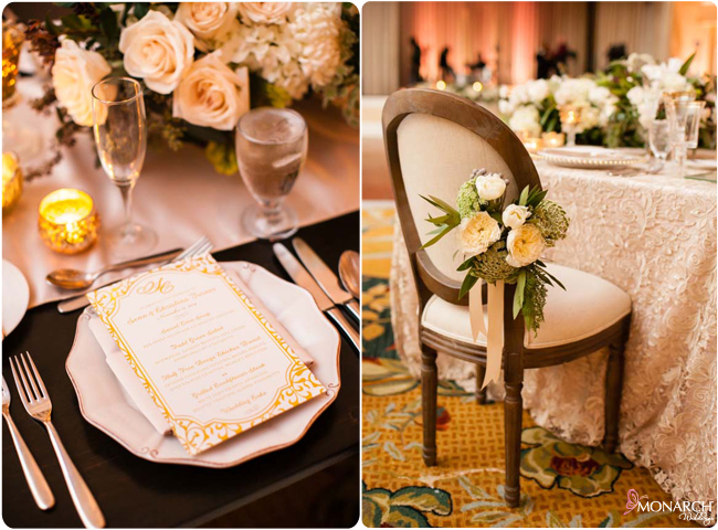 Golf-foil-menu-bistro-chair-hotel-del-wedding