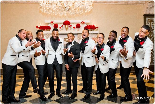 Groomsmen-White-tux-jacket-Us-Grant-Gatsby-Wedding