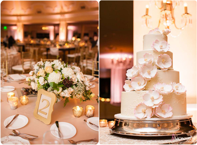 Wedding-cake-blush-gold-wedding-hotel-del