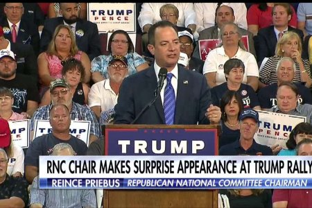 RNC Chair Stands By Donald Trump at Rally in Erie, PA