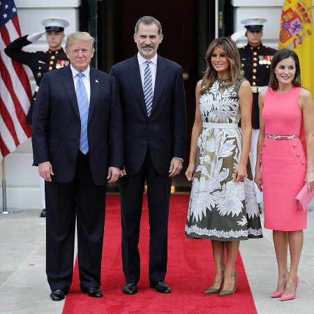 What Melania Wore Welcoming Spain's King and Queen