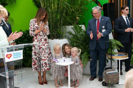 What Melania Wore Visiting Nicklaus Children's Hospital