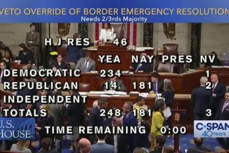 House fails to override Trump veto on border emergency