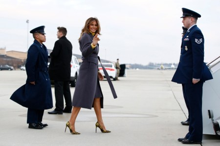 """What Melania Wore Kicking Off """"Be Best"""" Tour"""