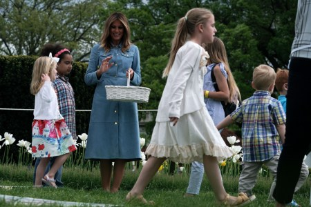 What Melania Wore to the White House Easter Egg Roll