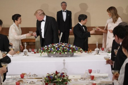 What Melania Wore Having Dinner With Japan Emperor
