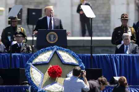 Trump Honors Fallen Officers at National Peace Officers Memorial Service
