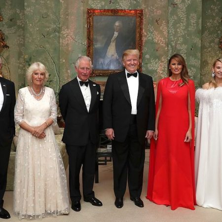What Melania Wore For Winfield House Dinner