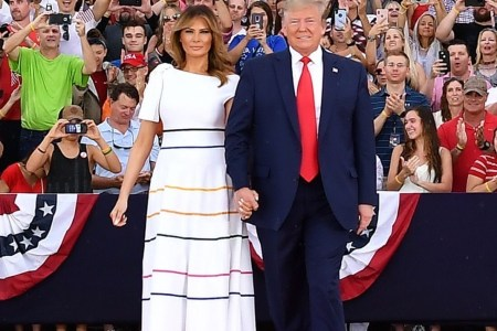 What Melania Wore to Salute To America Event