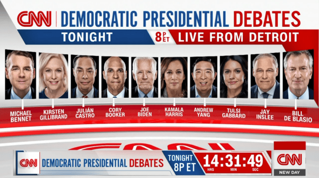 Live Blog: CNN Democratic Debate Night 2