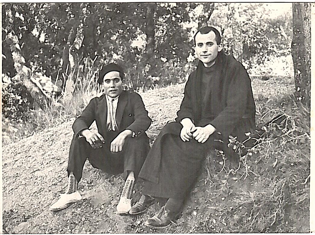 P. Anselmo Palau con su hermano Ramón (1925)